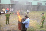 Huấn luyện nghiệp vụ phòng cháy và chữa cháy cho các doanh nghiệp tại CCN Diên Phú.